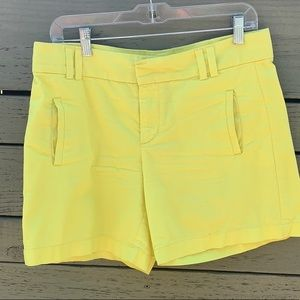 Ann Taylor Loft yellow shorts
